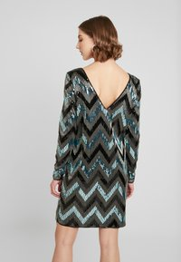 Vila - VISPARKY CHEVRON DRESS - Vestido de cóctel - black - 3
