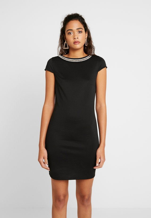 VISABINE CAPSLEEVE PEARL DRESS - Korte jurk - black
