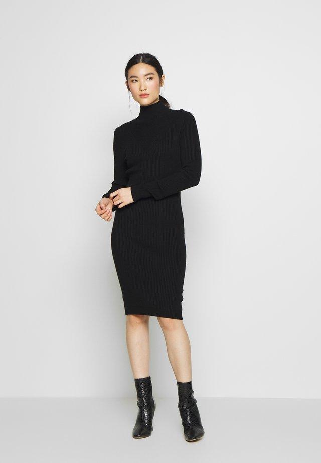 VIANDENA  - Gebreide jurk - black