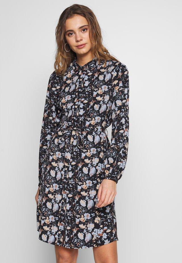 VISUNITA DRESS - Shirt dress - black