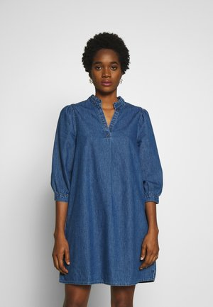 VITYKA 3/4 SHORT DRESS - Robe en jean - medium blue denim