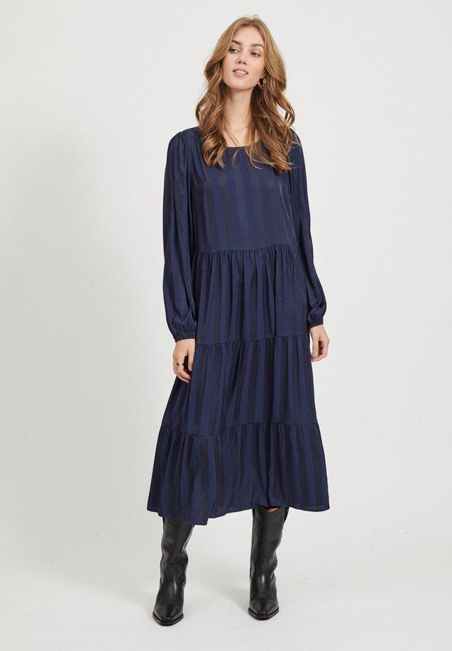 VIFNUG MIDI DRESS - Korte jurk - dark-blue denim