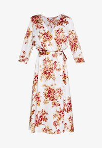 Vila - VILIVA NEW MEDI BELT DRESS - Kjole - cloud dancer/red/beige - 4