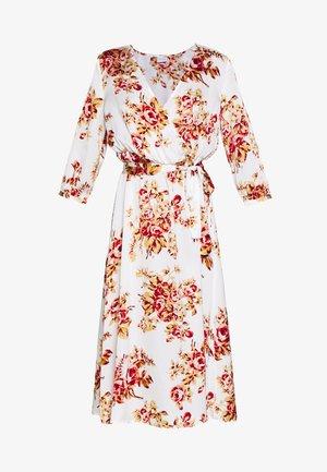 VILIVA NEW MEDI BELT DRESS - Kjole - cloud dancer/red/beige
