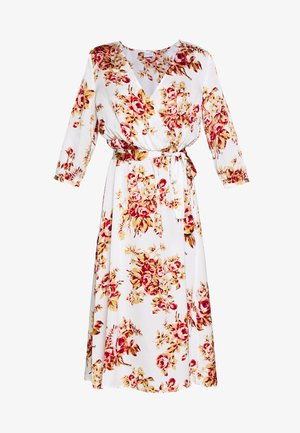 VILIVA NEW MEDI BELT DRESS - Vestito estivo - cloud dancer/red/beige
