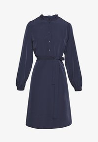 Vila - VISIMPLE BUTTON TIE DRESS - Skjortekjole - navy blazer - 3
