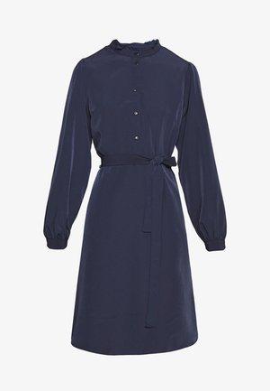 VISIMPLE BUTTON TIE DRESS - Košilové šaty - navy blazer
