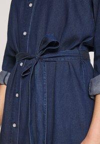 Vila - VIBISTA BELT DRESS - Dongerikjole - dark blue - 5