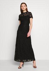 Vila - VICORALIA MAXI DRESS - Společenské šaty - black - 0