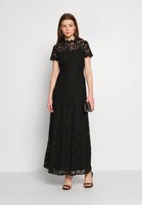 Vila - VICORALIA MAXI DRESS - Společenské šaty - black - 1