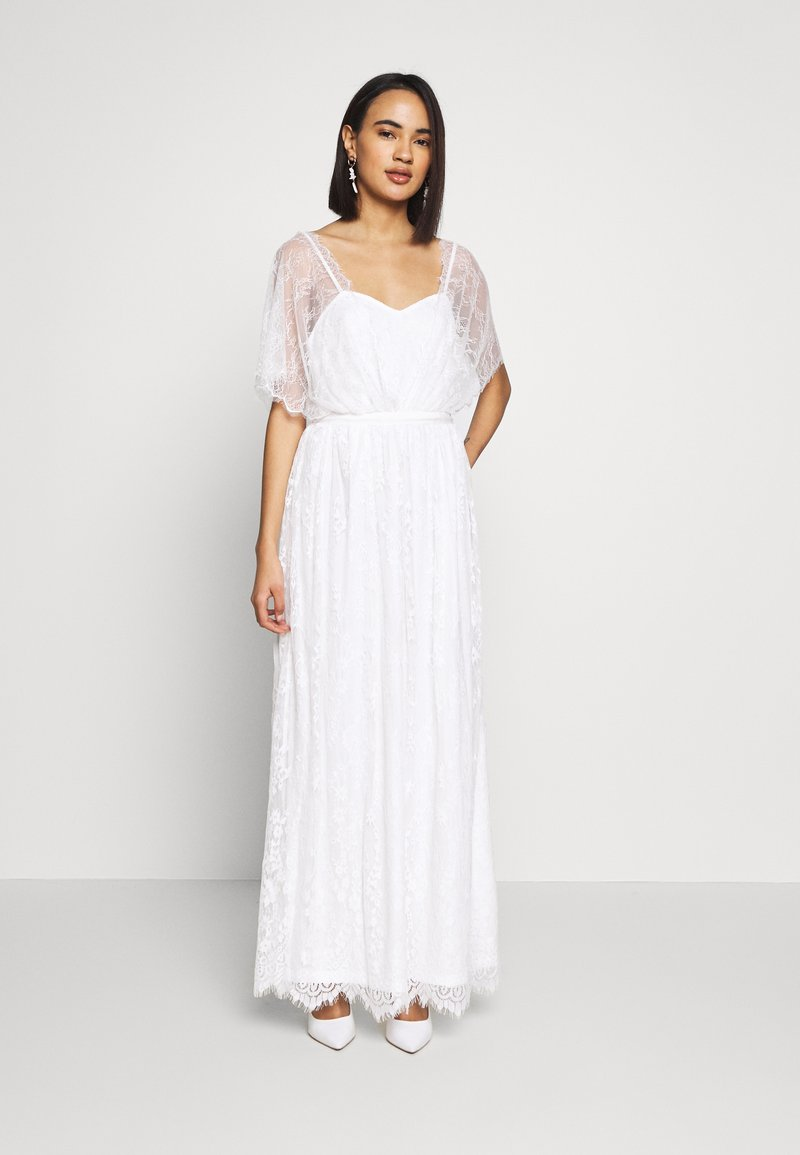 Vila - VIKOSMA MAXI DRESS - Galajurk - cloud dancer