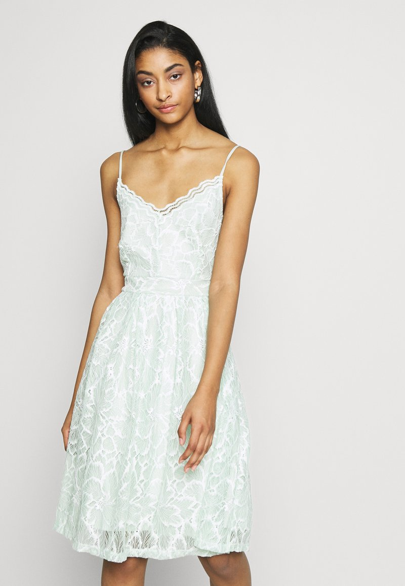 Vila - VICYRENA DRESS - Cocktail dress / Party dress - cameo green