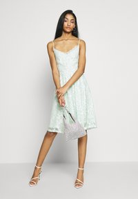Vila - VICYRENA DRESS - Cocktail dress / Party dress - cameo green - 1