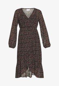 Vila - VIRUNA FLOUNCE DRESS - Sukienka letnia - black/roseblume - 4
