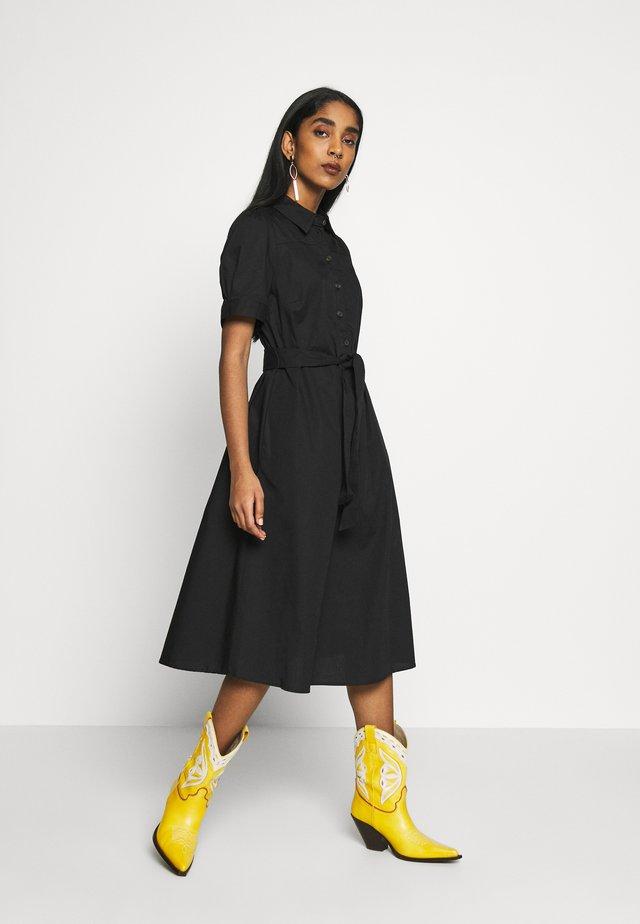 VINYALA MIDI DRESS - Shirt dress - black