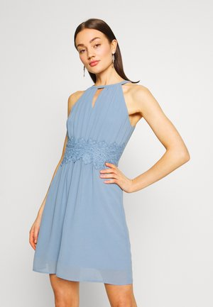 VIMILINA HALTERNECK DRESS/SU - NOOS - Denní šaty - ashley blue