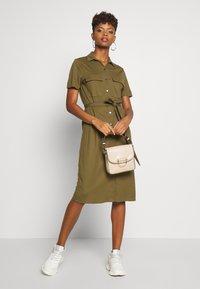 Vila - VISAFINA DRESS - Korte jurk - dark olive - 1