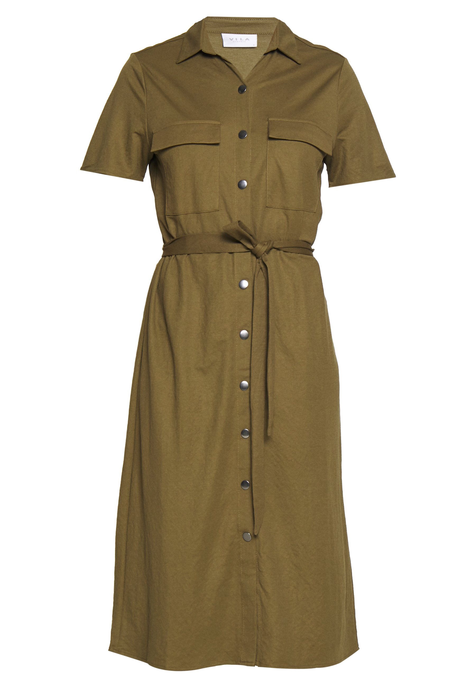 Vila VISAFINA DRESS - Sukienka letnia - dark olive