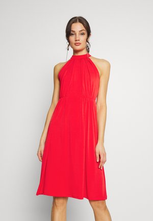VIOCENNA WRINKLE EFFECT DRESS - Trikoomekko - flame scarlet