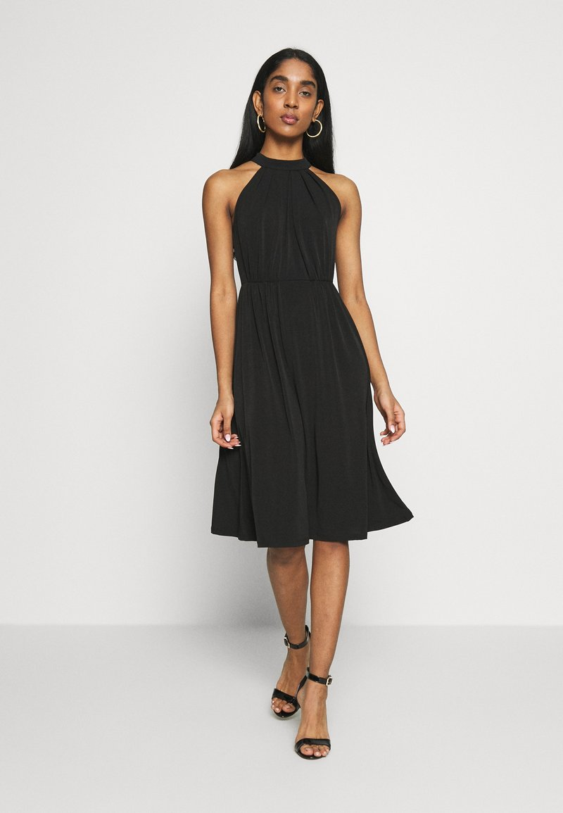 Vila - VIOCENNA WRINKLE EFFECT DRESS - Jerseyjurk - black
