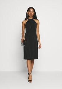 Vila - VIOCENNA WRINKLE EFFECT DRESS - Jerseyjurk - black - 1