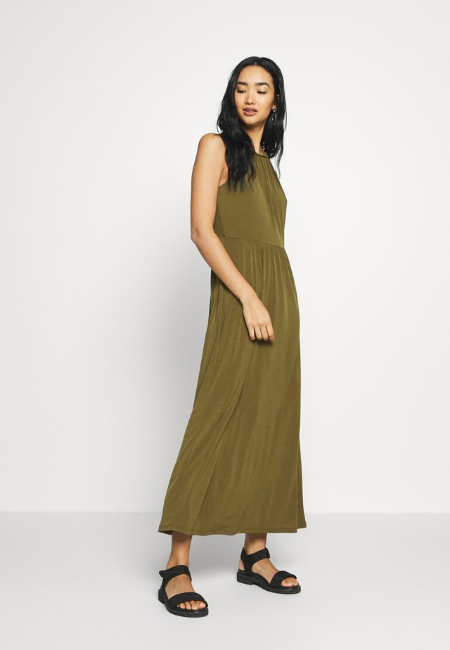 VILAURA BRAIDED ANKLE DRESS - Maxi-jurk - dark olive