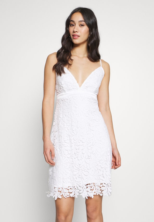 VILITTLE V-NECK DRESS - Day dress - cloud dancer
