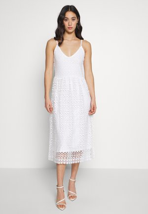 VIGLOW MIDI DRESS - Cocktailklänning - cloud dancer