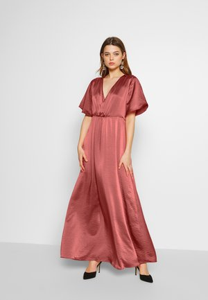 VIFLOATING ANCLE  - Maxi-jurk - dusty cedar