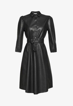 VIDARAS 3/4 DRESS - Shirt dress - black