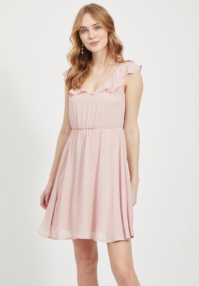 Korte jurk - pale mauve