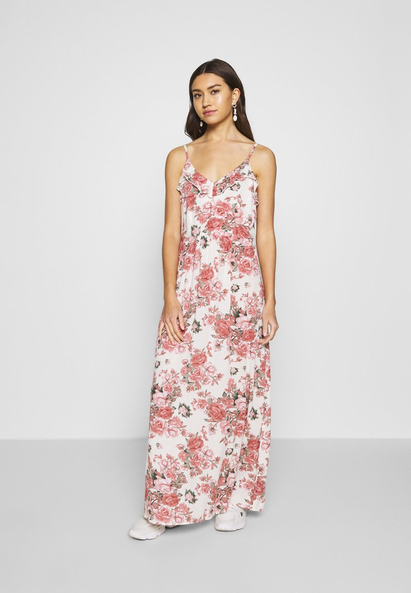 Vila - VIROSALINE MAXI DRESS - Maxi-jurk - cloud dancer