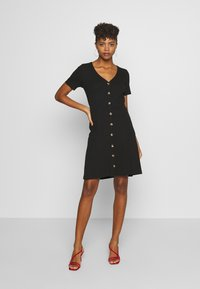 Vila - VICONIA DRESS - Jerseyklänning - black - 1