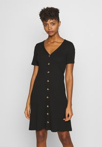 Vila - VICONIA DRESS - Jerseyklänning - black - 0