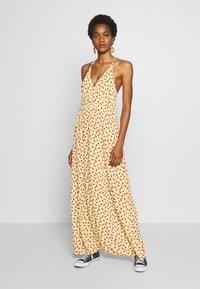 Vila - VITULLE V-NECK MAXI DRESS - Maxi šaty - mellow yellow - 0