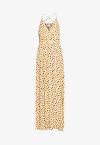 Vila - VITULLE V-NECK MAXI DRESS - Maxi šaty - mellow yellow - 4