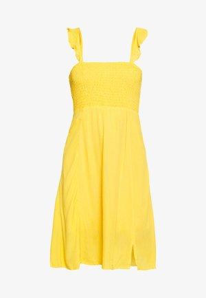 VISUNNY FESTIVAL SMOCK DRESS - Day dress - golden rod