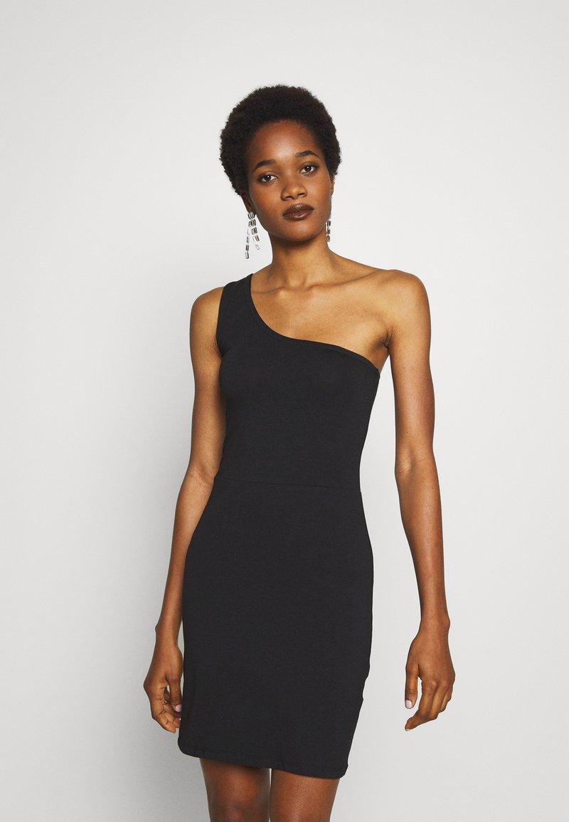 Vila - VILALI FESTIVAL ONE SHOULDER DRESS - Etuikjole - black