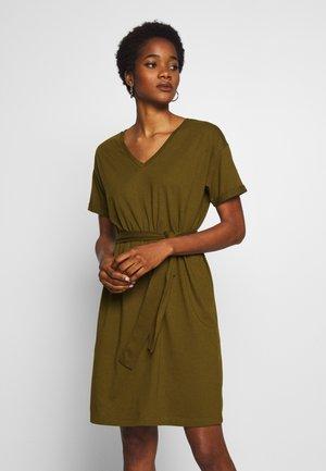 VIDREAMERS DRESS - Jersey dress - dark olive