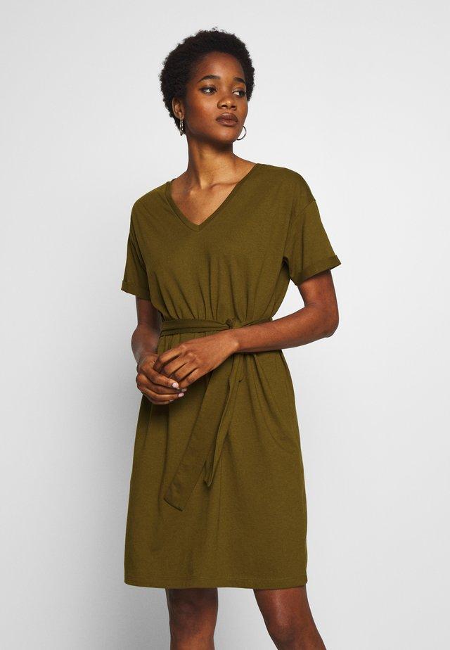 VIDREAMERS DRESS - Jerseyjurk - dark olive