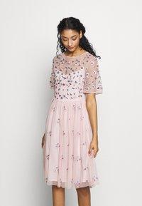 Vila - VIFANTASY DRESS - Sukienka koktajlowa - pale mauve - 0