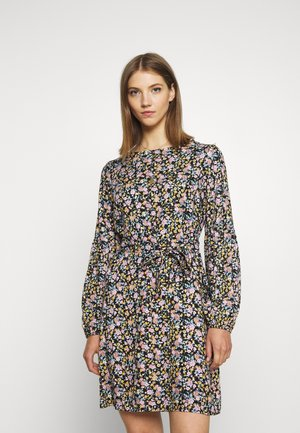 VIOLLA DRESS - Denní šaty - black/multi color
