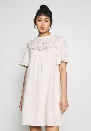 DRESS - Kjole - natural melange/whisper white