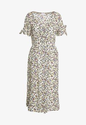 VILARSA LEAF MIDI DRESS - Korte jurk - sandshell