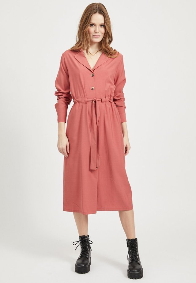 VILA COATIGAN BINDEGÜRTEL - Shirt dress - dusty cedar