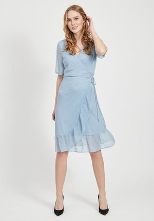 WICKELKLEID KURZÄRMELIGES - Korte jurk - ashley blue
