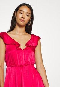 Vila - VIFLOATING FRILL MAXI DRESS - Suknia balowa - barberry - 3