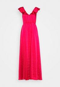 Vila - VIFLOATING FRILL MAXI DRESS - Suknia balowa - barberry - 4