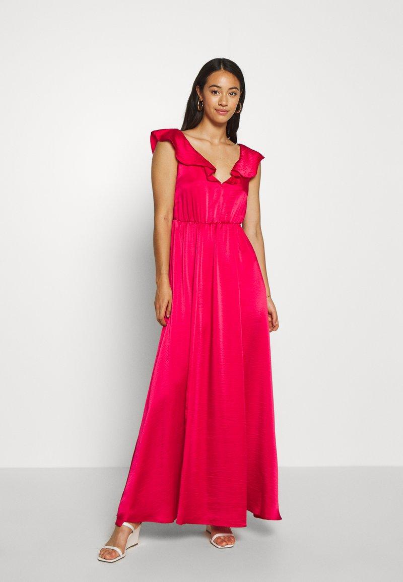 Vila - VIFLOATING FRILL MAXI DRESS - Suknia balowa - barberry