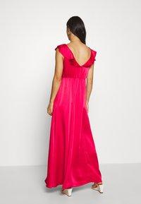 Vila - VIFLOATING FRILL MAXI DRESS - Suknia balowa - barberry - 2